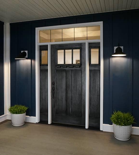 glazed entry door